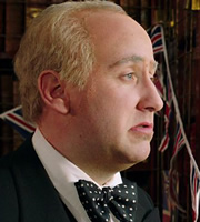 Horrible Histories. Winston Churchill (Jim Howick). Copyright: Lion Television / Citrus Television.