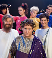 Horrible Histories. Image shows from L to R: Laurence Rickard, Jim Howick, Mathew Baynton. Copyright: Lion Television / Citrus Television.