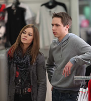 The Inbetweeners. Image shows from L to R: Tara (Hannah Tointon), Simon Cooper (Joe Thomas). Copyright: Bwark Productions.