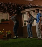 The Inbetweeners. Image shows from L to R: Neil Sutherland (Blake Harrison), Jay Cartwright (James Buckley), Simon Cooper (Joe Thomas). Image credit: Bwark Productions.