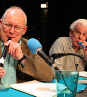 I'm Sorry I Haven't A Clue. Image shows from L to R: Graeme Garden, Barry Cryer. Copyright: BBC.