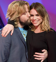 The Justin Lee Collins Show. Image shows from L to R: Justin Lee Collins, Billie Piper. Copyright: Objective Productions.
