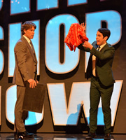 The John Bishop Show. Image shows from L to R: John Bishop, Pete Firman. Copyright: Lola Entertainment.