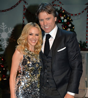 John Bishop's Christmas Show. Image shows from L to R: Kylie Minogue, John Bishop. Copyright: Lola Entertainment.