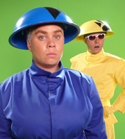 Katy Brand's Big Ass Show. Image shows from L to R: Katy Brand, Elliott Tiney. Copyright: World's End Productions.