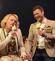 Keith Lemon's LemonAid. Image shows from L to R: Keith Lemon (Leigh Francis), Mark Wright. Copyright: TalkbackThames.