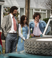 The Kennedys. Image shows from L to R: Tony Kennedy (Dan Skinner), Jenny (Emma Pierson), Tim (Harry Peacock). Copyright: BBC.