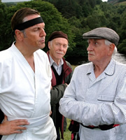 Last Of The Summer Wine. Image shows from L to R: Boothroyd (Brian Conley), Alvin Smedley (Brian Murphy), Howard Sibshaw (Robert Fyfe). Copyright: BBC.