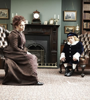 Life's Too Short. Image shows from L to R: Helena Bonham Carter, Warwick (Warwick Davis). Copyright: BBC.