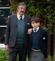 Little Crackers. Image shows from L to R: Headmaster (Stephen Fry), Fry (Daniel Roche).