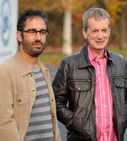 Little Crackers. Image shows from L to R: David Baddiel, Frank Skinner.