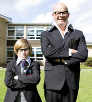 Little Crackers. Image shows from L to R: Harry Junior (Jude Wright), Harry Hill.