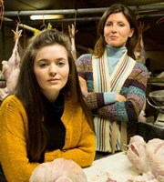 Little Crackers. Image shows from L to R: Young Sharon (Katherine Rose Morley), Sharon's Mum (Sharon Horgan).