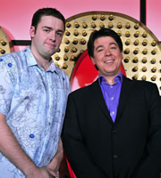 Live At The Apollo. Image shows from L to R: Jason Manford, Michael McIntyre. Copyright: Open Mike Productions.