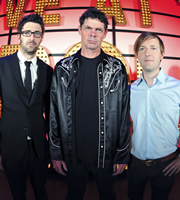 Live At The Apollo. Image shows from L to R: Mark Watson, Rich Hall, Andrew Maxwell. Image credit: Open Mike Productions.