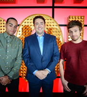 Live At The Apollo. Image shows from L to R: Ben Bailey Smith, Jason Manford, Chris Ramsey. Copyright: Open Mike Productions.