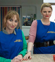 Love Matters. Image shows from L to R: Bella Wright (Isy Suttie), Jenny (Rebekah Staton).