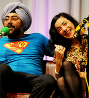 MacAulay And Co. Image shows from L to R: Hardeep Singh Kohli, Camille O'Sullivan. Copyright: BBC.