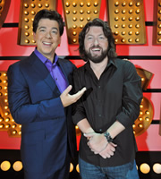 Michael McIntyre's Comedy Roadshow. Image shows from L to R: Michael McIntyre, Keith Farnan. Copyright: Open Mike Productions.