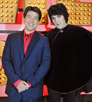 Michael McIntyre's Comedy Roadshow. Image shows from L to R: Michael McIntyre, Noel Fielding. Copyright: Open Mike Productions.