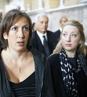 Miranda. Image shows from L to R: Miranda (Miranda Hart), Georgina (Maggie Service). Copyright: BBC.