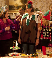 Miranda. Image shows from L to R: Angela (Beth Chalmers), Miranda (Miranda Hart), Stevie (Sarah Hadland). Copyright: BBC.