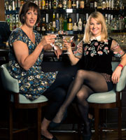 Miranda. Image shows from L to R: Miranda (Miranda Hart), Stevie (Sarah Hadland). Copyright: BBC.