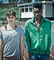 Misfits. Image shows from L to R: Emma (Hannah Britland), Curtis (Nathan Stewart-Jarrett). Copyright: Clerkenwell Films.