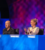 Mock The Week. Image shows from L to R: Andy Parsons, Sara Pascoe. Copyright: Angst Productions.