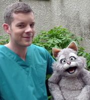 Mongrels. Image shows from L to R: Russell Tovey, Marion. Copyright: BBC.