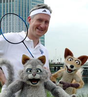 Mongrels. Image shows from L to R: Lembit Öpik, Marion, Nelson. Copyright: BBC.