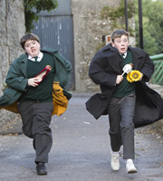 Moone Boy. Image shows from L to R: Padraic (Ian O'Reilly), Martin (David Rawle). Image credit: Baby Cow Productions.