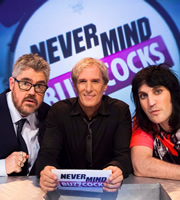 Never Mind The Buzzcocks. Image shows from L to R: Phill Jupitus, Michael Bolton, Noel Fielding. Copyright: TalkbackThames / BBC.