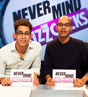 Never Mind The Buzzcocks. Image shows from L to R: Harley Alexander-Sule, Jordan Stephens. Copyright: TalkbackThames / BBC.