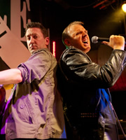 Not Going Out. Image shows from L to R: Lee (Lee Mack), Tim (Tim Vine). Copyright: Avalon Television / Arlo Productions.