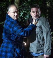 Not Going Out. Image shows from L to R: Paul (Toby Longworth), Lee (Lee Mack). Copyright: Avalon Television / Arlo Productions.