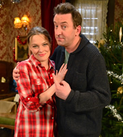 Not Going Out. Image shows from L to R: Lucy (Sally Bretton), Lee (Lee Mack). Copyright: Avalon Television / Arlo Productions.