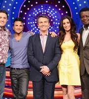 Odd One In. Image shows from L to R: Jason Manford, Peter Andre, Bradley Walsh, Stacey Solomon, Stephen K Amos. Copyright: Zeppotron.