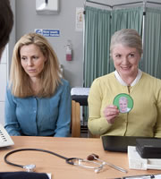 Parents. Image shows from L to R: Jenny Pope (Sally Phillips), Mary (Felicity Montagu). Copyright: Objective Productions.