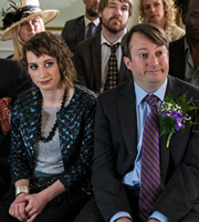 Peep Show. Image shows from L to R: Dobby (Isy Suttie), Mark Corrigan (David Mitchell). Copyright: Objective Productions.