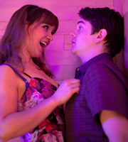 Pramface. Image shows from L to R: Jamie Prince (Sean Michael Verey), Laura Derbyshire (Scarlett Alice Johnson). Image credit: British Broadcasting Corporation.