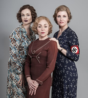 Psychobitches. Image shows from L to R: Nancy Mitford (Sophie Ellis-Bextor), Jessica Mitford (Samantha Spiro), Unity Mitford (Sharon Horgan). Copyright: Tiger Aspect Productions.