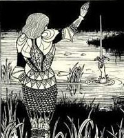 Aubrey Beardsley - How Sir Bedivere Cast the Sword Excalibur into the Water.