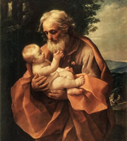St Joseph with the Infant Jesus by Guido Reni, c 1635.