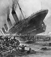 The Titanic sinking.