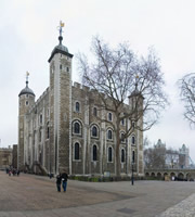 White Tower of the Tower of London.
