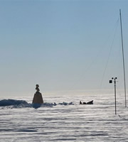 Bust of Lenin at the Southern Pole of inaccessibility.