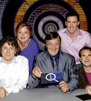 QI. Image shows from L to R: Alan Davies, Jo Brand, Stephen Fry, Rob Brydon, Jimmy Carr. Copyright: TalkbackThames.