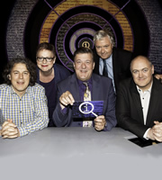 QI. Image shows from L to R: Alan Davies, Jo Brand, Stephen Fry, John Sessions, Dara O Briain. Copyright: TalkbackThames.