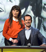 QI. Image shows from L to R: Aisling Bea, Jimmy Carr. Image credit: TalkbackThames.